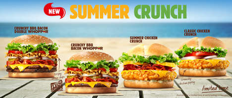 Crunch-Inducing Burger Menus - Burger King's New Summer Crunch Burgers Feature a Crispy Surprise