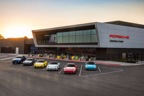 Luxury Sports Car Complexes - The 'Porsche LA Experience Center' Highlights History and Thrills