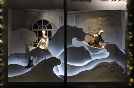 Interactive Christmas Retail Displays - This Display Tells a Story and Promotes Customer Engagement