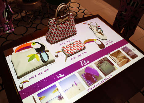 Projected Interactive Retail Displays - PERCH for Kate Spade Has Consumers Interact with Products