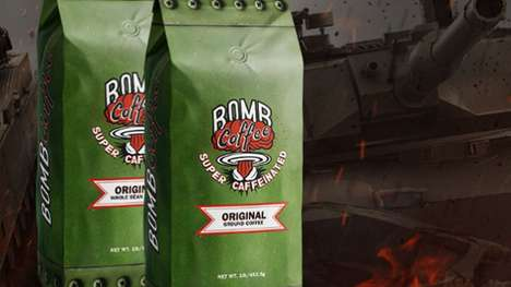 Ultra-Caffeinated Charitable Coffees - The BOMB Coffee Brand Helps Support America's Service Members