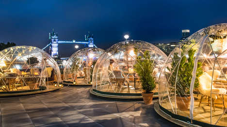 Restaurant Igloo Activations - Coppa Club is Combating the Decline in Visitors That Occurs in Winter