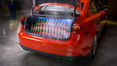 Hot Sauce-Covered Cars - The 2017 Lexus Sriracha IS Is a Food-Themed Car with Hot Sauce in the Paint