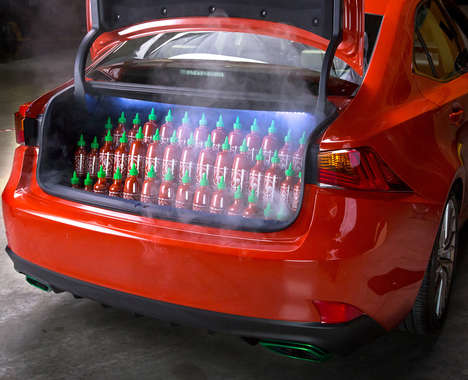 Hot Sauce-Covered Cars