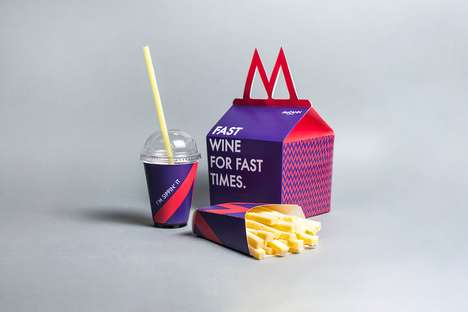Fast Food Wine Kits - This Creatively Packaged Wine Looks Like a Perfect Meal for Adults