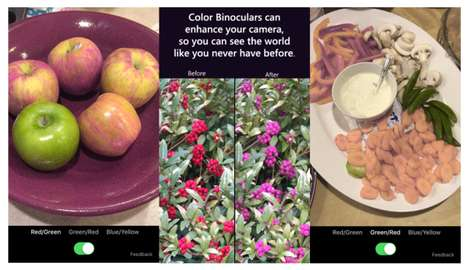 Colorblindness Correcting Apps - Microsoft's 'Color Binoculars' Uses Smartphones to Correct Vision
