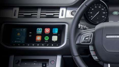 Dashboard Music Platforms - Jaguar's InControl Apps Library mirrors the Spotify interface