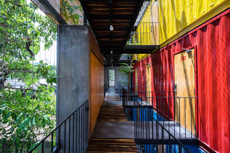 Shipping Container Resorts - This Vietnamese Recycled Hotel Utilizes the Functions of a Hostel