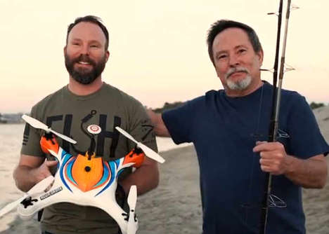 Waterproof Fisherman Drones - The 'AguaDrone' Waterproof Drone Can Locate Fish and Drop Bait