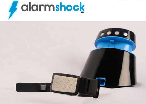 Electroshock Alarm Clocks - The 'Alarmshock' Electric Shock Alarm Zaps Users to Get Them Going