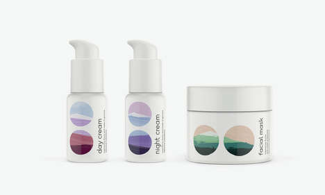 Landscape Cosmetics Branding - These Organic Skin Care Collections are Inspired by Nature