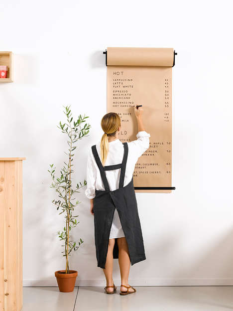 Butcher Paper Roll Displays - The Studio Roller Paper Dispenser is Suitable for Cafes and Offices