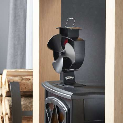 Heat-Spreading Stove Fans - The VonHaus Wood Stove Fan Pushes Heat Outward Quickly and Effectively