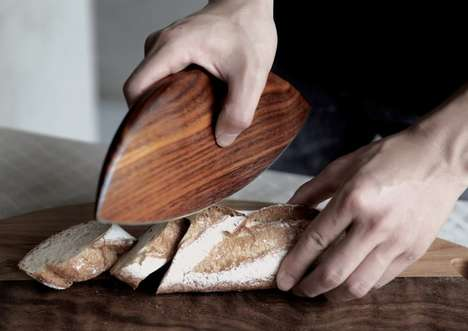 Sculptural Wooden Chopping Knives - The 'Handaxe' Wooden Knife is Safe and Effective at Cutting