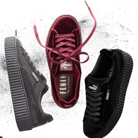 Velvet Holiday Sneakers - Rihanna and Puma's Collaboration Will Launch Another Collection Next Month