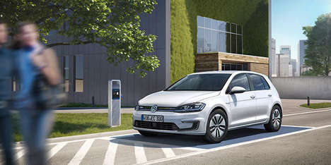 Sporty Responsive Electric Cars - The 2017 Volkswagen e-Golf EV is an Impressive Economical Car