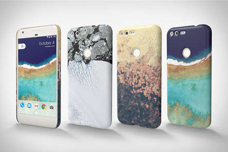 Earth Exploration Phone Cases - The Google Earth Live Case Allows Users to Explore Distant Locations