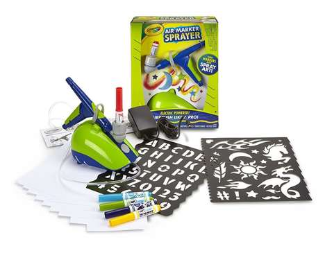 Beginner Airbrush Kits - The Crayola Air Market Art Sprayer Turns Markers into Airbrushes