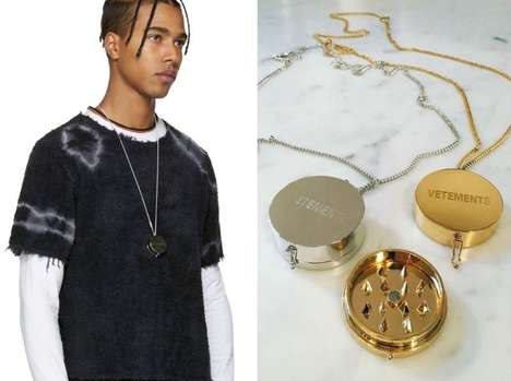 Cannabis-Grinding Necklaces - The Vetements Grinder Pendant Hides a Weed Grinder Within