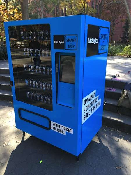 Educational Condom Vending Machines - These Vending Machines are Designed to Promote Safe Sex