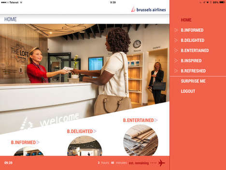 Airport Lounge-Synced Apps - Brussels Airlines 'Connected Lounge' App Digitizes the Experience