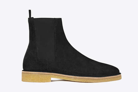 Streamlined Suede Boots - These Saint Laurent Boots Have a Luxurious Yet Simplistic Aesthetic