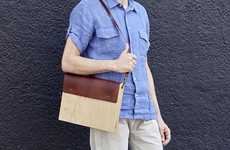 Elegant Oak Laptop Carriers - These Wooden MacBook Cases Have a Sustainable and Beautiful Design