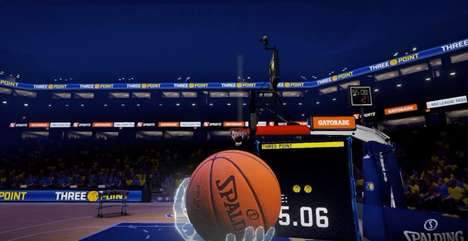 VR Basketball Video Games - 'NBA 2KVR Experience' Features Immersive Mini-Games