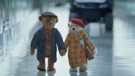 Traveling Teddy Bear Commercials - This Heartfelt Heathrow Airport Ad Focuses on Two Grandparents