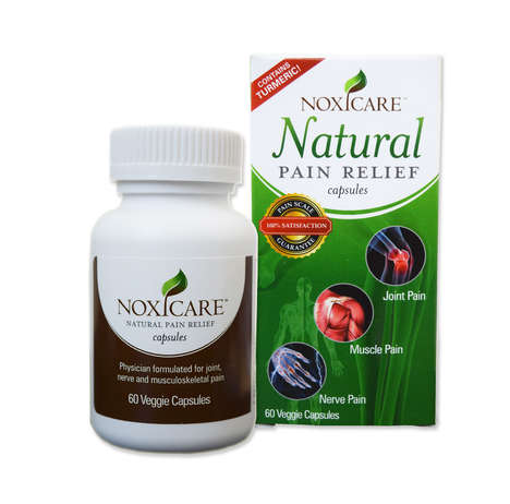 Turmeric-Based Pain Relievers - Noxicare Capsules Use Natural Ingredients to Relieve General Pain