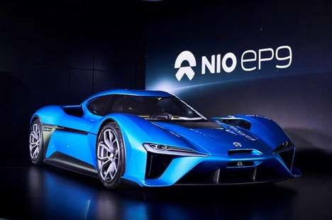 Record-Breaking Electric Supercars - The NextEV Nio EP9 Sports Car Vehicle is Future-Ready