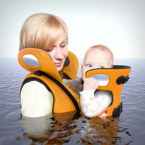 Two-in-One Parental Life Jackets - The 'Connect' Aquatic Life Jacket Keeps Mother and Child Together