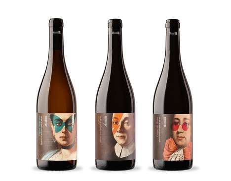 Ancestral Wine Branding - These Wine Labels Feature Modernized Portraits of Their Makers