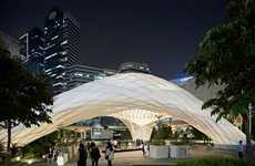 Arched Translucent Bamboo Pavilions