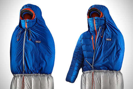 Jacket-Accommodating Sleeping Bags - The Patagonia Hybrid Sleeping Bag Keeps Users Comfy and Warm
