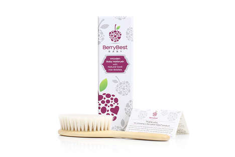Goat Hair Baby Brushes - The BerryBest Baby Hair Brush is Created Using Natural Materials