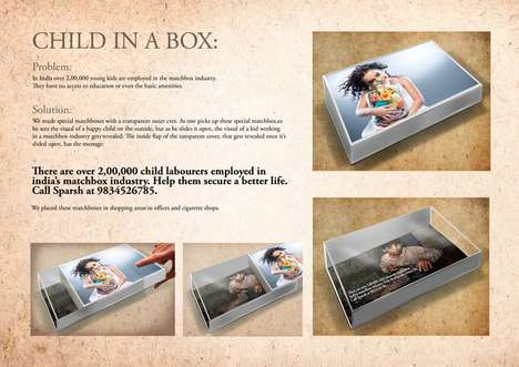 Child Labor-Exposing Matchboxes - The 'Child in a Box' Campaign Reveals the Realities of Slavery