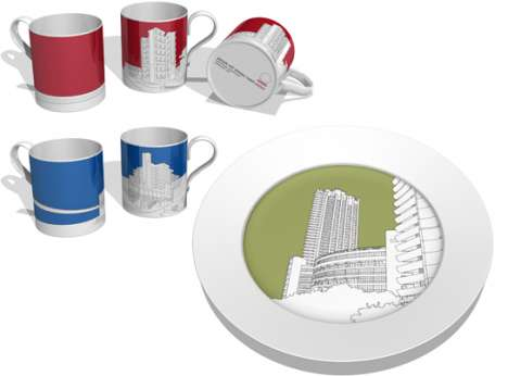 Architectural Dishware - These Plates Feature the Best of British Design