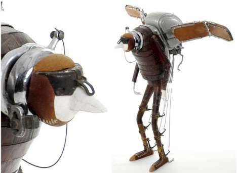 19 Space Alien Steampunked Creations