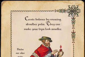 'Pants Optional' Guide Blends Style Tips with Medieval Illustrations