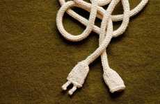 Knitted Power Cords - DIY Wooly Wires for Unusual Accessories