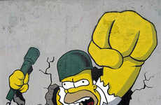 Rebellious Cartooned Graffiti That Would Make Bart Proud