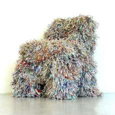 Recycled Paper Seating - The Shredded Paper and Pulp Chairs Showcase Ecovation