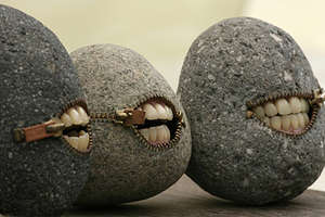 Hilarious Grinning Stone Sculptures by Hirotoshi Ito