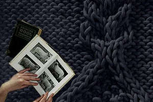 Flocks Aran Wool Rugs Created With Giant Knitting Needles
