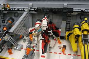 Huge Collection Of LEGO Battlestar Galactica Models