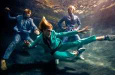 Aquatic Fashion Photography - VMan Goes 'In Deep' For Men's Spring