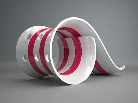 Swirling Sculptured Playgrounds