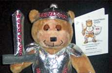 Educational Plush Toys  - Activist 'Good News Grizzly' Takes Up Armor for Charity