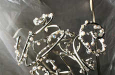 Non-Floral Bouquets - Refinerii Offers Bejeweled Bunches of Salvaged Metal for Brides